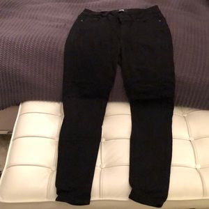 Paige black denim ankle jeans